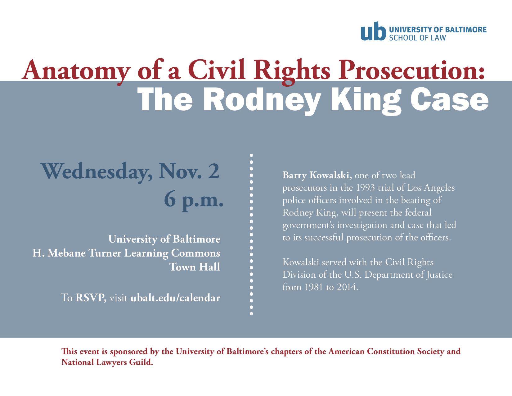Anatomy of a Civil Rights Prosecution: The Rodney King Case – Nov. 2 ...